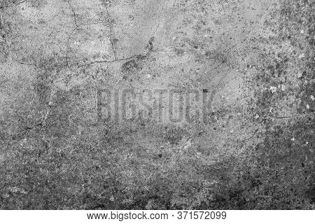 Old Cementy Moldy Gray Wall. Abstract Antique Background
