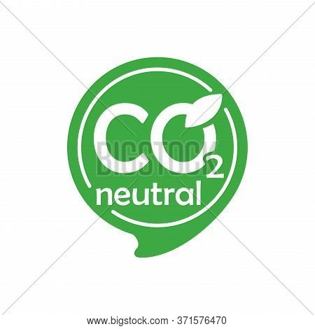 Co2 Neutral Green Stamp (net Zero Carbon Footprint) - Carbon Emissions Free (no Air Atmosphere Pollu