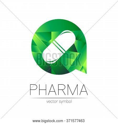 Pharmacy Vector Symbol For Pharmacist, Pharma Store, Doctor And Medicine. Modern Design Vector Logo