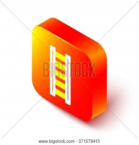 Isometric Line Fire Escape Icon Isolated On White Background. Pompier Ladder. Fireman Scaling Ladder