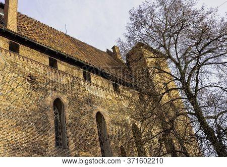Malbork, Pomerania, Poland - January 2: Castle Of The Teutonic Order On 2 January 2020 In Malbork, P