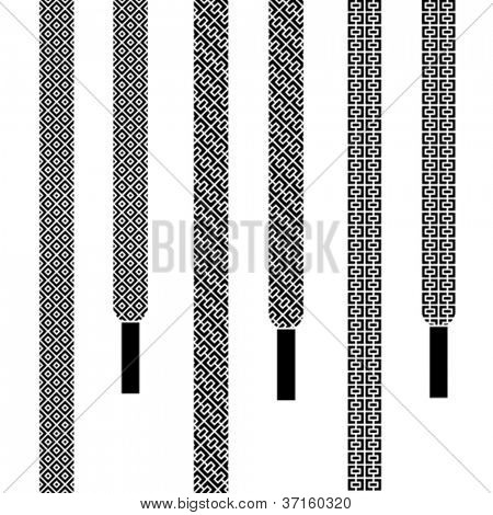 vector shoe lace seamless symbols
