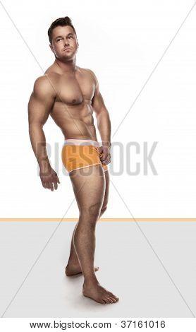Handsome Bodybuilder In Briefs