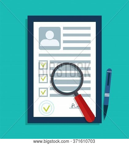 Cv Data. Personal Resume Document. Id Profile Of Person In Recruitment. Information Form Employee On