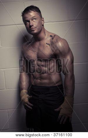 Handsome Pensive Bodybuilder
