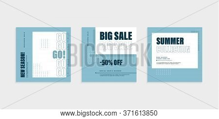 Vector Square Web Banner Templates For Big And  Mega Sale. Editable Template Post For Social Media A