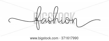 Fashion. Simple Lettering Typography Script Word Fashion. Poster, Card, Label, Vector Design Banner.
