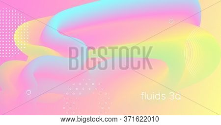 Abstract Color Liquid. Fluid Background. Pastel Gradient Movement. Vector Geometric Flyer. Bright Mo