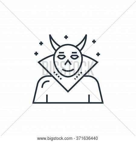 evil icon isolated on white background from  collection. evil icon trendy and modern evil symbol for