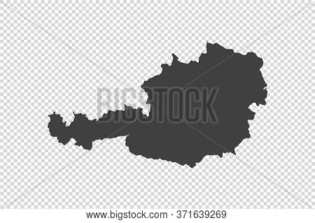 Austria Map With Gray Tone On  Png Or Transparent  Background,illustration,textured , Symbols Of Aus