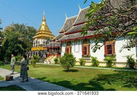 Wat Chiang Man Chiang Mai Thailand-10 January 2020:wat Chiang Man Was Built By Mangrai: 209 In 1297.