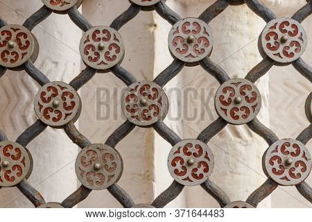 Background Of The Iron Grate. Design Element