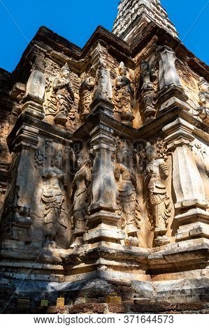 Chiang Mai Thailand-11 January 2020:wat Chet Yot Temple,b.e. 1998 King Bhumibol Adulyadej The 9th Ki