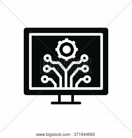 Black Solid Icon For Development  Innovation  Evolution Progress Advancement Upgrade