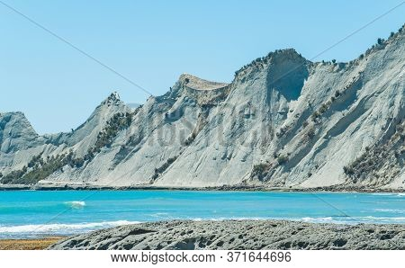 The Landscape Of Cape Kidnappers An Extraordinary Sandstone Headland In Hawke's Bay Region Of New Ze