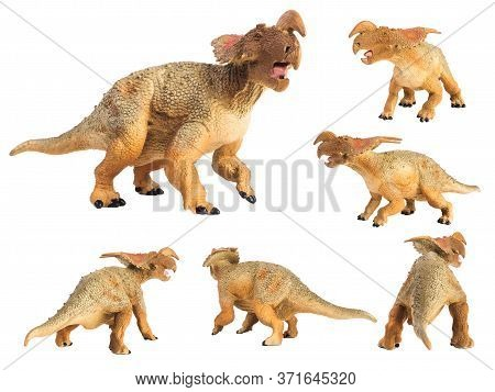 Einiosaurus Dinosaur On White Background . Einiosaurus Dinosaur On White Background .