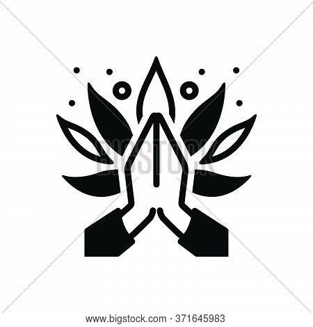 Black Solid Icon For Aura Pray Halo Worship Adoration Homage