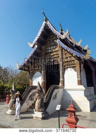 Chiang Mai Thailand-11 January 2020:prasat Temple,chiang Mai According To Evidence, The Inscription