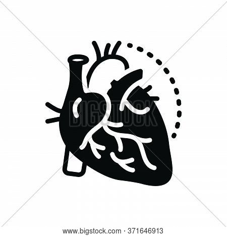 Black Solid Icon For Arteries  Veins  Artery  Heart  Cholesterol Pump Cardiology Heartbeat