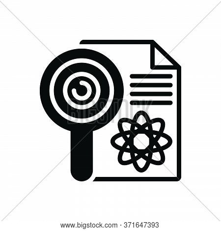 Black Solid Icon For Research Investigation Checkout Quest Disquisition