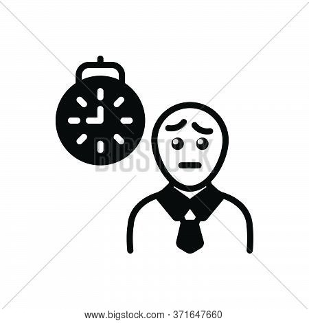 Black Solid Icon For Waiting Expectation Hope Person Prospect