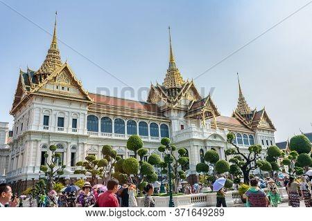 Bangkok, Thailand - April 20: View Of Royal Grand Palace On April 20, 2016 In Bangkok. Royal Grand P
