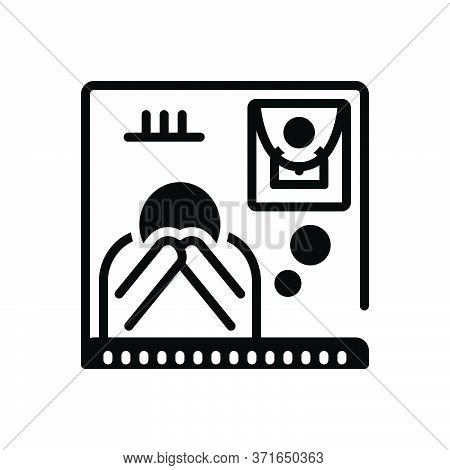 Black Solid Icon For Bereaved  Funeral Exequies Bereavement Separation Dissociation Disseverance
