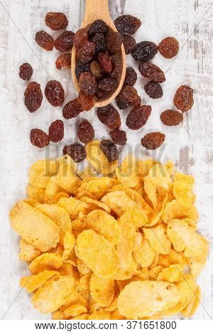 Dried Ingredients As Source Carbohydrates, Dietary Fiber, Vitamins And Minerals, Concept Of Healthy