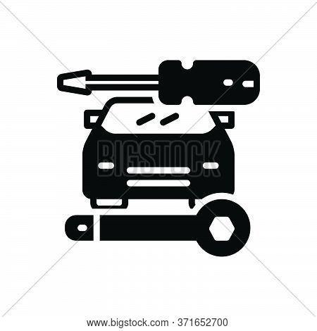 Black Solid Icon For Auto-repair Auto Repair Workshop Service Technology Vehicle Car Workshop