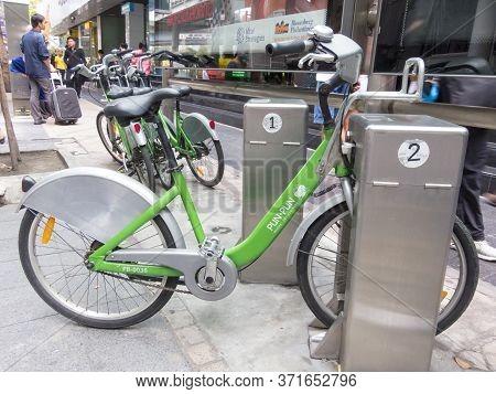 Bangkok,thailand-16 August 2018:bangkok Bicycie City. On 16 August 2018, In Bangkok Thailand Images