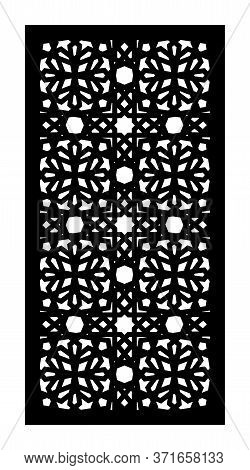 Decorative Vector Panel For Laser Cutting. Template For Interior Partition In Arabesque Style.