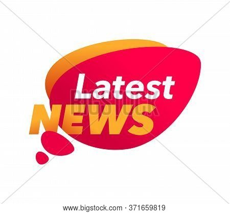 Lates News Headline Message Icon In Dialog Bubble Form - Isolated Vector News Anouncement Sticker
