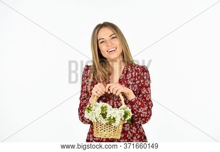 Florist Career. Arrange Cut Flowers Nice Bouquet. Happiness. First Spring Flowers. Beautiful Bloom.