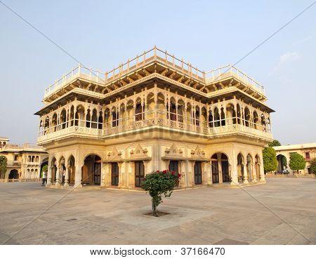 Mubarak Mahal In The City Palace Of Jaipur