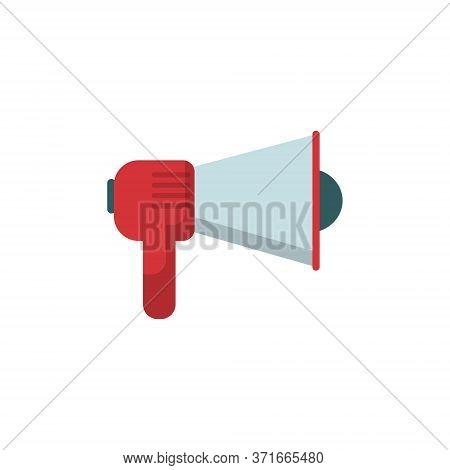 Megaphone, Speaker Or Loudspeaker. News Announcement, Loud Cry Of People.