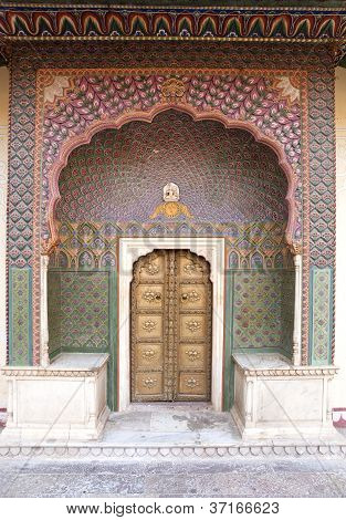 Small Gate Of Jaipur City Palace