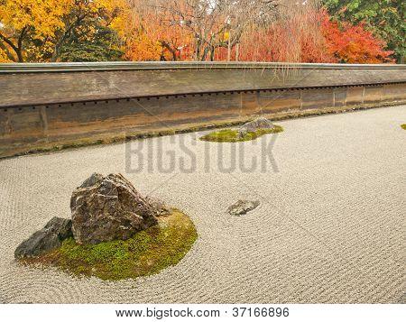 Rock Garden Of Ryoan-ji Temple, Kyoto