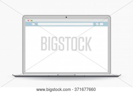 Browser Window Flat Vector Icon Window Internet Browser. Vector Illustration.