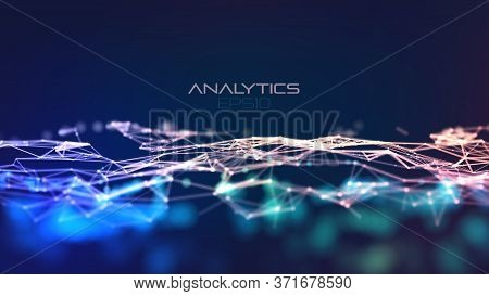 Modern Illustration With Plexus On Light Background. Abstract Technology Blue. Abstract Tech Backgro