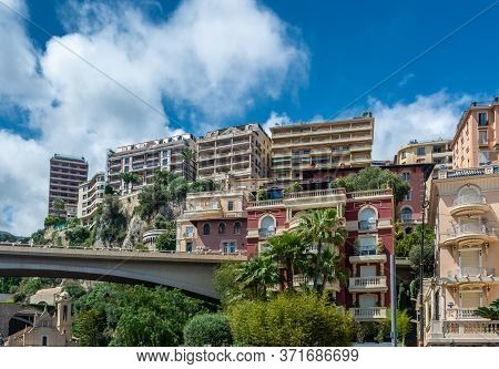 Monte Carlo Is A City In Monaco, Situated On A Prominent Escarpment At The Base Of The Maritime Alps