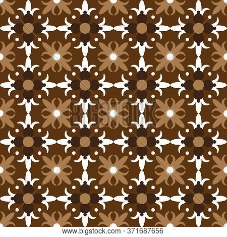 Modern Soft Mocca Color Design For Tradisional Typical Batik Parang