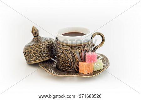 Turkish Coffee With Turkish Delight.
