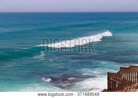 Beautiful View Of The Atlantic Ocean Near Morocco Coast In Sunny Day.