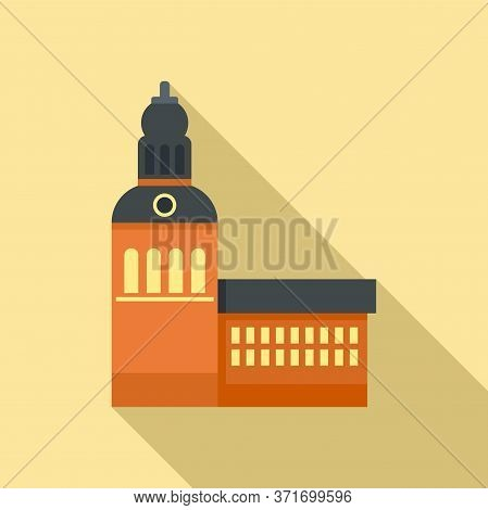 Riga Old Building Icon. Flat Illustration Of Riga Old Building Vector Icon For Web Design