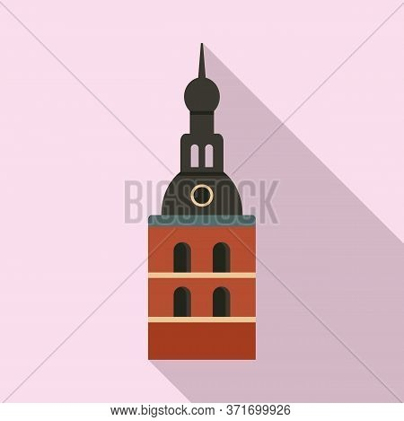 Riga Cathedral Icon. Flat Illustration Of Riga Cathedral Vector Icon For Web Design