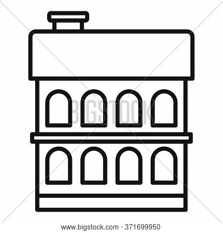 Riga Building Icon. Outline Riga Building Vector Icon For Web Design Isolated On White Background