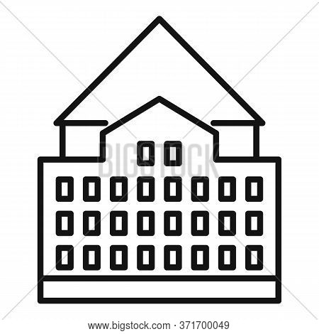 Riga Old City Building Icon. Outline Riga Old City Building Vector Icon For Web Design Isolated On W