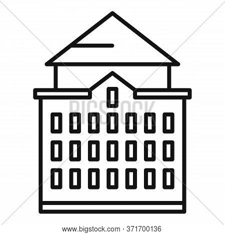 Riga Big House Icon. Outline Riga Big House Vector Icon For Web Design Isolated On White Background