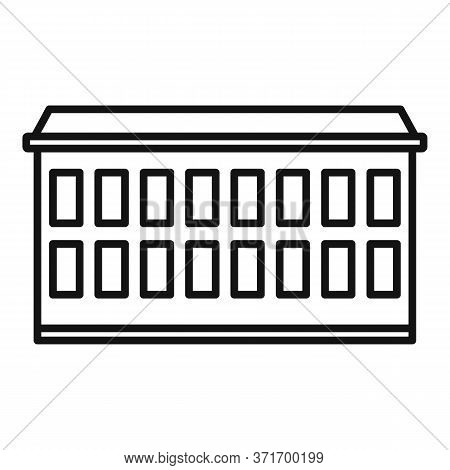 Riga Apartment Building Icon. Outline Riga Apartment Building Vector Icon For Web Design Isolated On