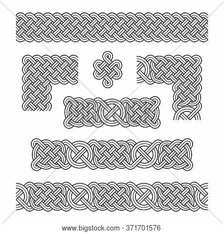Elements Of Celtic Frames. Celtic Knot, Vector Illustration.